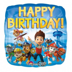 Heliumballon paw patrol 'happy birthday'