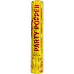 Party popper / confetti kanon goud