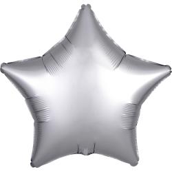 Heliumballon ster zilver