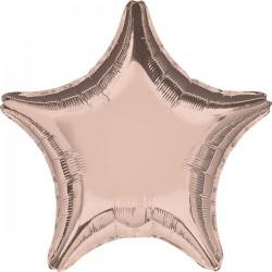 Heliumballon ster rosé goud standaard