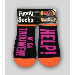 Funny socks 'trouwen'