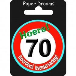 Button verkeersbord - 70 jaar