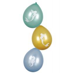 Ballonnen zeemeermin blauw