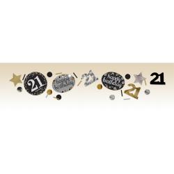 Confetti 21 metallic goud
