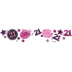 Confetti 21 metallic roze