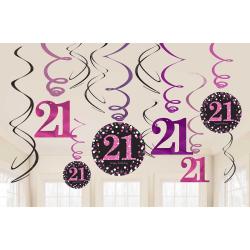 Swirls 21 metallic roze