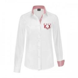 Wit overhemd met rood hert