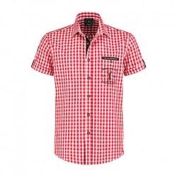 Overhemd ruit rood/wit