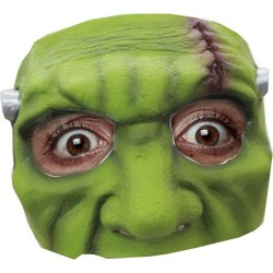 Latex halfmasker groen monster