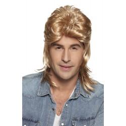 Pruik lang met mat blond