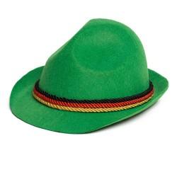 Tiroler hoed groen zwart/rood/geel
