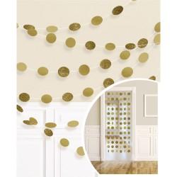 String decoratie glitter goud
