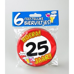 Bierviltjes verkeersbord 25 jaar