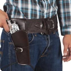 Cowboy riem met holster 110cm