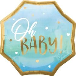 Heliumballon 'Oh Baby' jongen