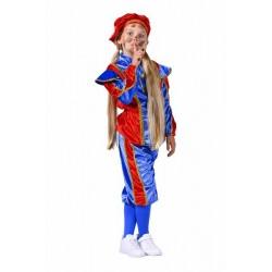 Pietenpak kind blauw/rood