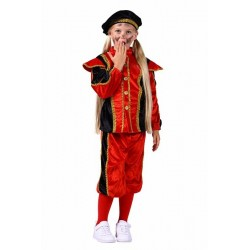 Pietenpak kind zwart/rood