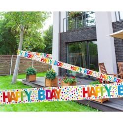 Afzetlint stippen 'Happy B-day'