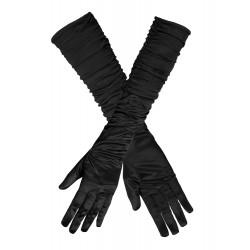 Handschoenen zwart geplooid