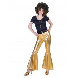 Disco fever broek goud dames