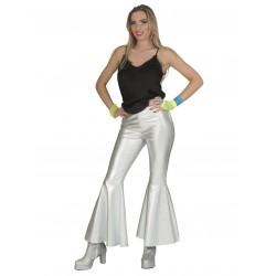 Disco fever broek zilver dames