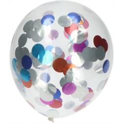 Ballonnen met metallic confetti