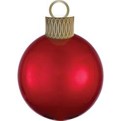 Ballon kerstbal rood