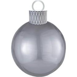 Ballon kerstbal zilver