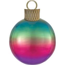 Ballon kerstbal regenboog