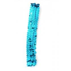 Haarband stretch pailletten blauw