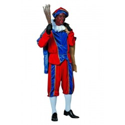 Kostuum Piet imitatie fluweel volwassenen