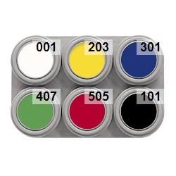 Water make-up pallet 6 kleuren