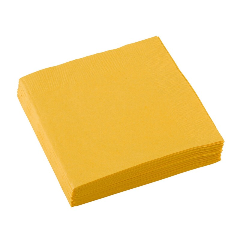 Servetten sunshine yellow 25x25