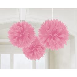 Decoratie fluffy new pink