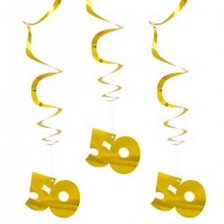 Hangdecoratie goud 50