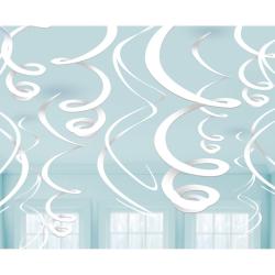 Decoratie swirls frosty white