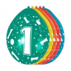 Ballonnen met cijfer 1