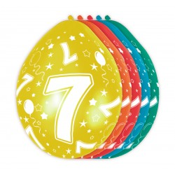 Ballonnen met cijfer 7