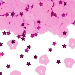 Tafeldecoratie / confetti voetjes roze