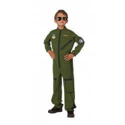 Kostuum straaljager piloot kind
