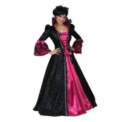 Barok jurk zwart / roze