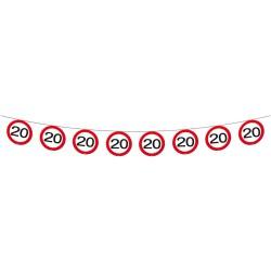 Vlaggenlijn verkeersbord 20