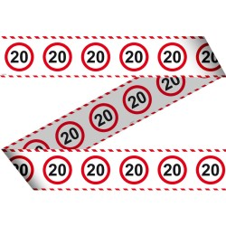 Afzetlint verkeersbord 20