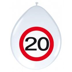 Ballonnen verkeersbord 20