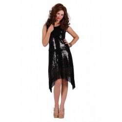 Glitter jurk zwart