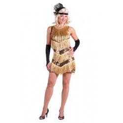 Roaring 20's jurk goud