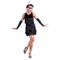Roaring 20's jurk zwart
