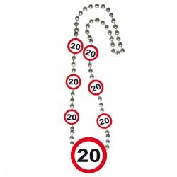 Ketting verkeersbord 20