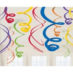 Decoratie swirls rainbow