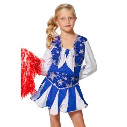 Cheerleader blauw kind